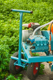 Agricultural equipment in greenhouse closeup Stock Photography