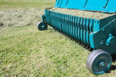 Agricultural equipment for hay mow and windrow Royalty Free Stock Image