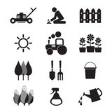 Agricultural Equipment Icons royalty free illustration