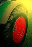 Agricultural equipment in sunset light. Detail 27 Royalty Free Stock Image