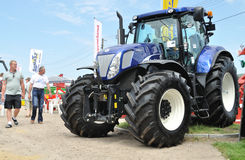 Agricultural Exhibition. Giant tractor showcase, during the 11th Masovian Agriculture Days. Photo taken on: June 12, 2010 in Plonsk, Poland Royalty Free Stock Photo