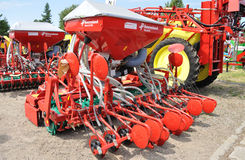 Agricultural Exhibition. Pneumatic seed drill showcase, during the 11th Masovian Agriculture Days. Photo taken on: June 12, 2010 in Plonsk, Poland Royalty Free Stock Image