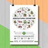 Agricultural Exhibition design poster or card template Stock Photos
