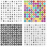 100 agricultural exhibition icons set vector variant. 100 agricultural exhibition icons set vector in 4 variant for any web design isolated on white Vector Illustration