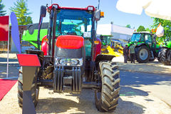 Agricultural Fair. Red Tractor exposed for sale in agricultural fair,photography Royalty Free Stock Photos