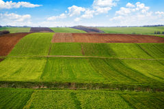 Arable land. Agricultural field. Arable land in the spring, ready for the sowing season Royalty Free Stock Photos