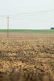 Agricultural field , with pylons Stock Image