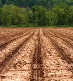 Agricultural Field Ready For Planting. Bare soil farm field ready for spring planting Royalty Free Stock Images