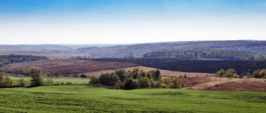 Agricultural fields and arable Stock Photography