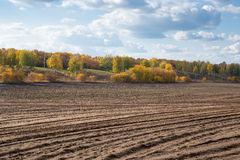 Agricultural fields and arable. In Europe Stock Image