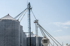 Agricultural Grain Bins Stock Image