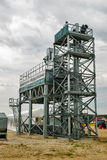 Agricultural grain elevator building occupyed by journalists Royalty Free Stock Photography
