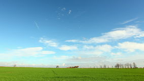 Agricultural green field - time lapse Royalty Free Stock Images
