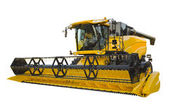 Agricultural harvester. Isolated on a white background Stock Photography