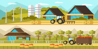 Agricultural Horizontal Banners Stock Image