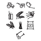 Agricultural Icon Set Royalty Free Stock Image