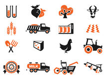 Agricultural icon set Royalty Free Stock Photos
