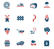 Agricultural icon set. Agricultural web icons for user interface design Royalty Free Stock Image