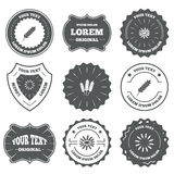 Agricultural icons. Gluten free symbols Royalty Free Stock Images