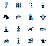 Agricultural icons set Stock Image