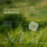 Agricultural industry infographic design. Vector illustration Royalty Free Stock Images