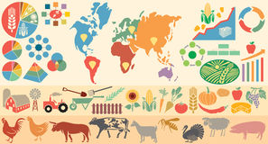 Agricultural infographic elements Royalty Free Stock Photos