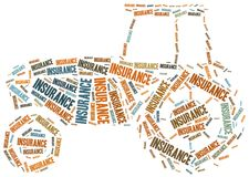 Agricultural insurance. Word cloud illustration. Stock Image