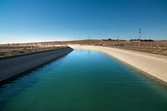 Irrigation channels Stock Photo