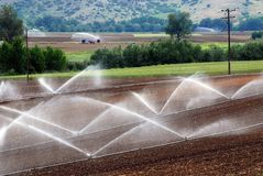 Agricultural irrigation levels Stock Images