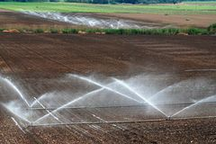 Agricultural irrigation levels Stock Photos