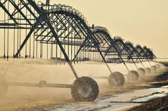 Agricultural Irrigation Sprinkler Royalty Free Stock Photography