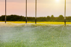 Agricultural irrigation system Stock Image