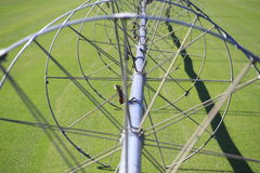 Agricultural Irrigation Wheel Spokes Royalty Free Stock Image