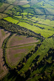 Agricultural Land. Aerial view of agricultural land in Somerset, UK Royalty Free Stock Image