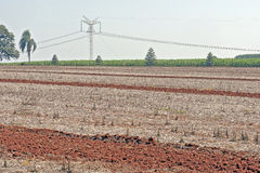 Agricultural land at rest waiting to be plowed Stock Photos