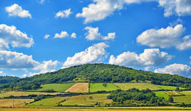 Agricultural landscape in central France Royalty Free Stock Photos