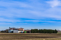 Agricultural Landscape with farm Royalty Free Stock Photos