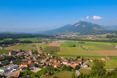 Agricultural landscape, Gruyere Royalty Free Stock Image