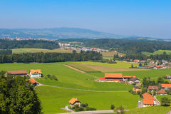 Agricultural landscape, Gruyere Stock Image