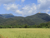 Agricultural landscape in the Montseny Massif Royalty Free Stock Image
