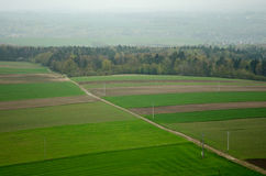 Agricultural landscape in Smolen village Poland Royalty Free Stock Image