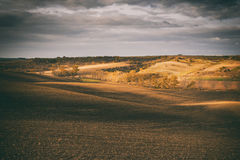 Agricultural landscape before the storm Royalty Free Stock Photography