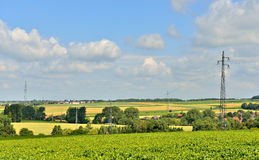 Agricultural landscape of Walloon, Belgium Stock Image