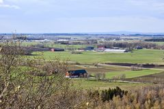 Agricultural landscapes Royalty Free Stock Images