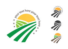 Agricultural Logo Template Design. Icon. Sign or Symbol. flat design on white background Stock Photos