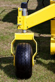 Agricultural Machine Yellow Jockey Wheel Royalty Free Stock Photography