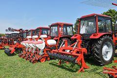 Agricultural machineries and tractors Royalty Free Stock Photos