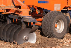 Agricultural machinery. Used for cultivation stock photos