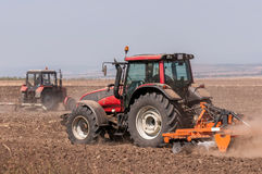 Agricultural machinery. Used for cultivation stock images