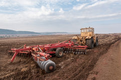 Agricultural machinery. Used for cultivation stock photography
